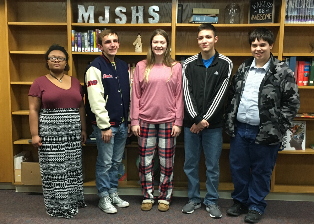 Davis Represents MHS at Poetry Out Loud Contest