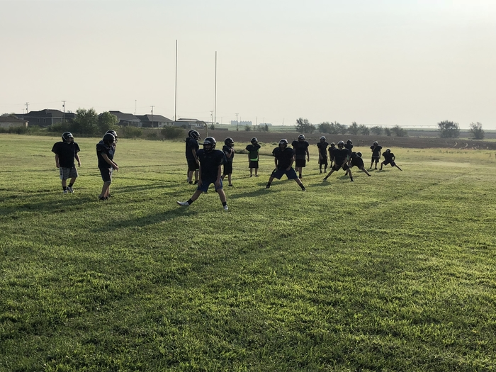 Jr. High Football with a little Saturday morning work.