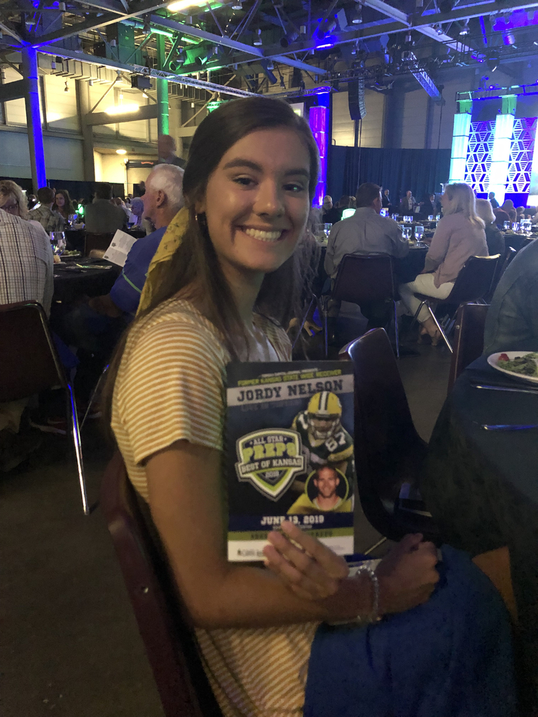 Caroline Giles at All Star Preps Banquet.  Congrats!!