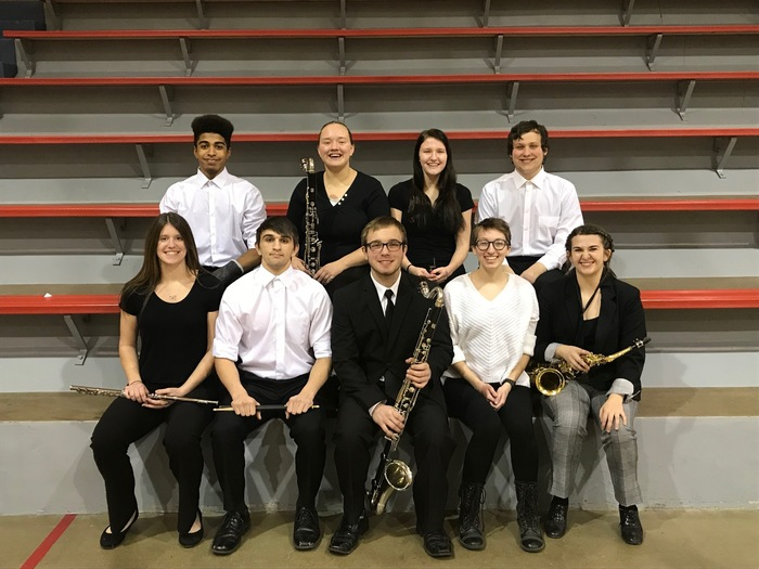 MHS Band students at the NCAA League Band Festival.